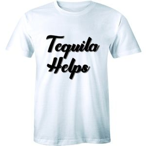 Tequila Helps T=shirt Funny Mexico Drinking Tee